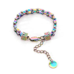 Cycolinks Womens Charm Rainbow Crystal Bracelet - Cycolinks
