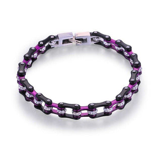 Cycolinks Purple Crystal Bracelet 7mm - Cycolinks
