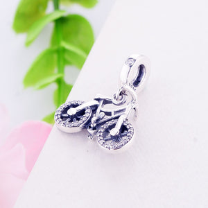 Cycolinks 925 Sterling Silver Bicycle Pendant - Cycolinks
