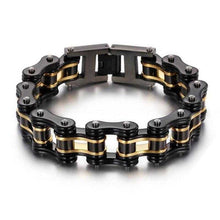 Load image into Gallery viewer, Cycolinks Black Gold Bike Chain Bracelet - Cycolinks