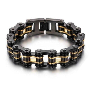 Cycolinks Black Gold Bike Chain Bracelet - Cycolinks
