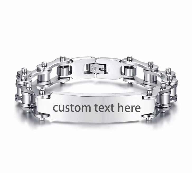 Cycolinks Personalised Mens Bike Bracelet - Cycolinks
