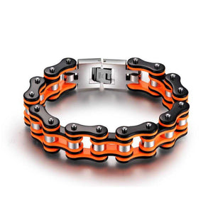 Cycolinks Punk Orange Mens Bracelet - Cycolinks