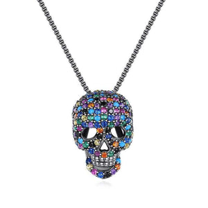 Cycolinks Rainbow Skull Cubic Zircon Necklace - Cycolinks