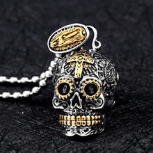 Load image into Gallery viewer, Cycolinks Carved Virgin Skull Pendant - Cycolinks