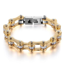 Load image into Gallery viewer, Cycolinks Gold Crystal Bracelet - Cycolinks