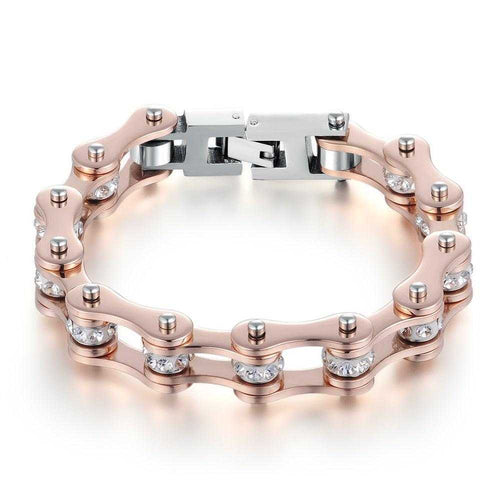Cycolinks Rose Gold Crystal Bracelet - Cycolinks
