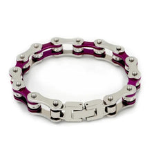 Load image into Gallery viewer, Cycolinks Punk Purple Crystal Bracelet - Cycolinks
