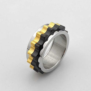 Cycolinks Titanium Steel Rotating Gear Ring - Cycolinks