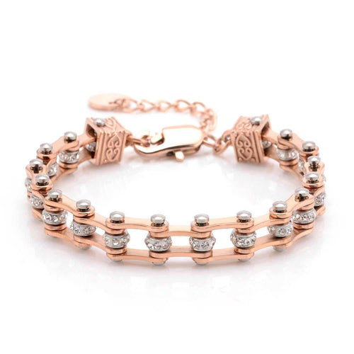 Cycolinks Womens Charm Crystal Bracelet - Cycolinks