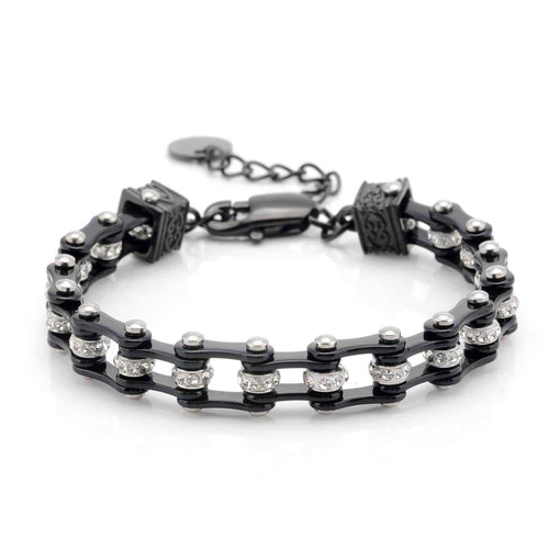 Cycolinks Womens Charm Black Crystal Bracelet