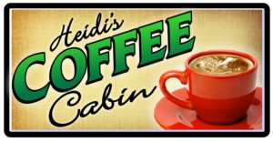 Heidi's Coffee Cabin thrives due to the delicious coffee from Rock Creek Coffee Roasters!