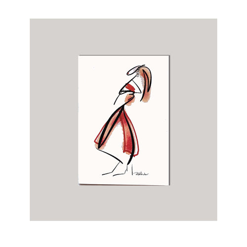 An all occasion greeting card featuring a beautiful fashionista abstract design. A card to tell a friend or loved one how special they are! 4