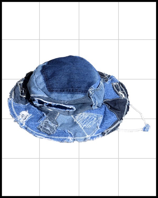 Patchwork Denim Field Hat