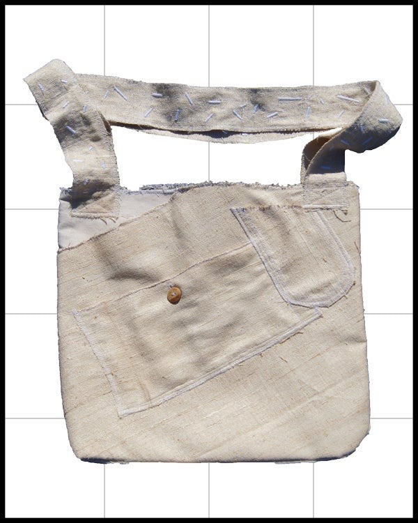 Burlap Side Bag