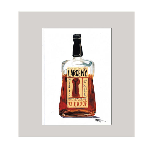 An all occasion greeting card featuring a beautiful whiskey bottle with abstract design. The perfect card for the