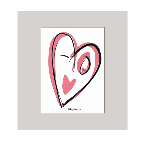 An all occasion greeting card featuring a winking heart with abstract design. Card to say