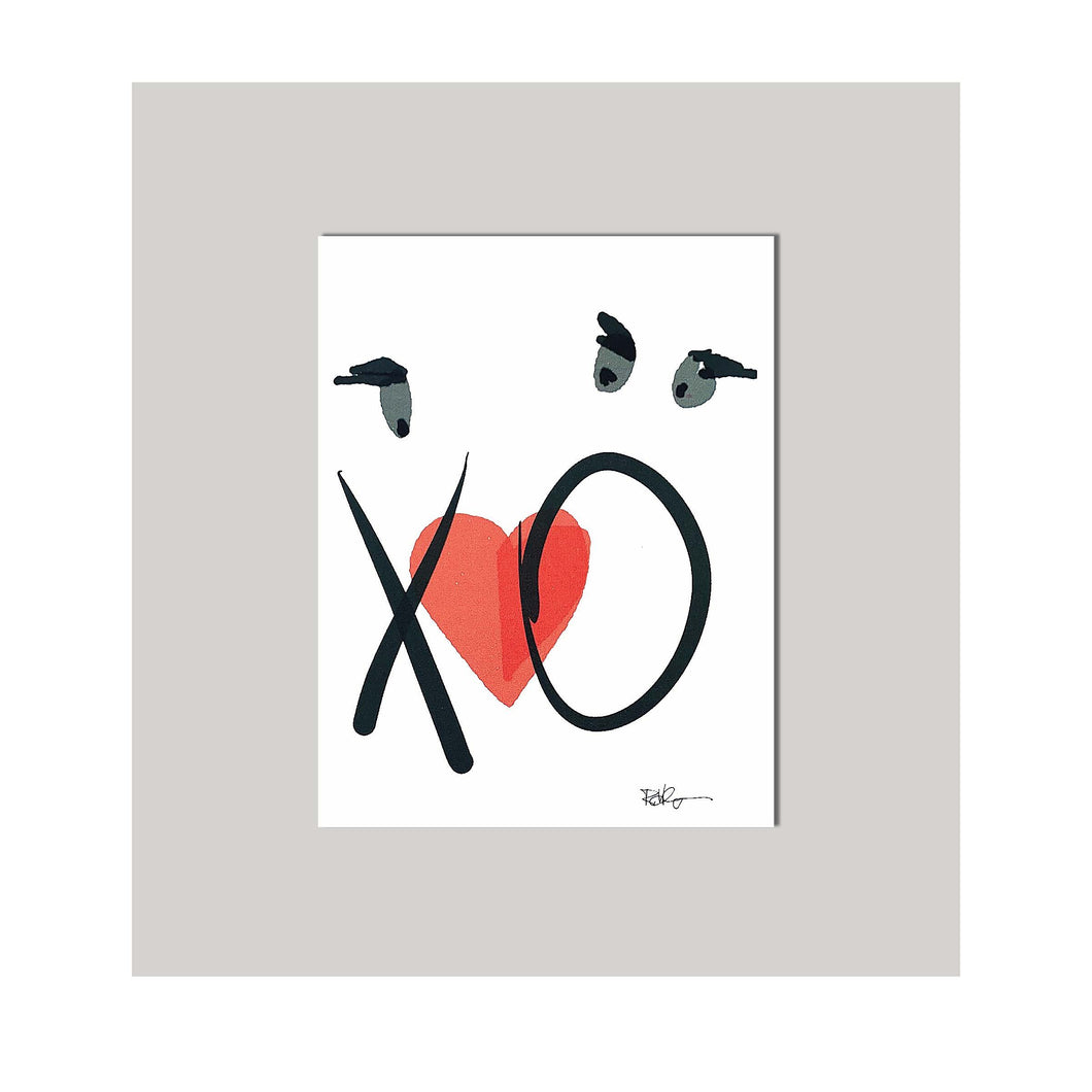 An all occasion greeting card featuring a beautiful couple in abstract design. Card to say