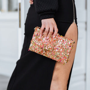 Gold Donut Clutch