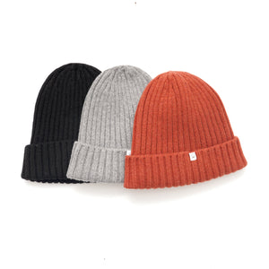 Recycled Cashmere Beanie - Orange