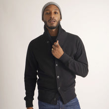 Load image into Gallery viewer, Lounge Cardigan - Black