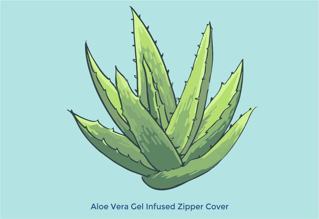 Aloe Vera Gel Infused Zipper Cover