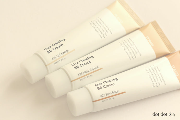 SWATCHES: PURITO CICA CLEARING BB CREAM 21, 23, 27