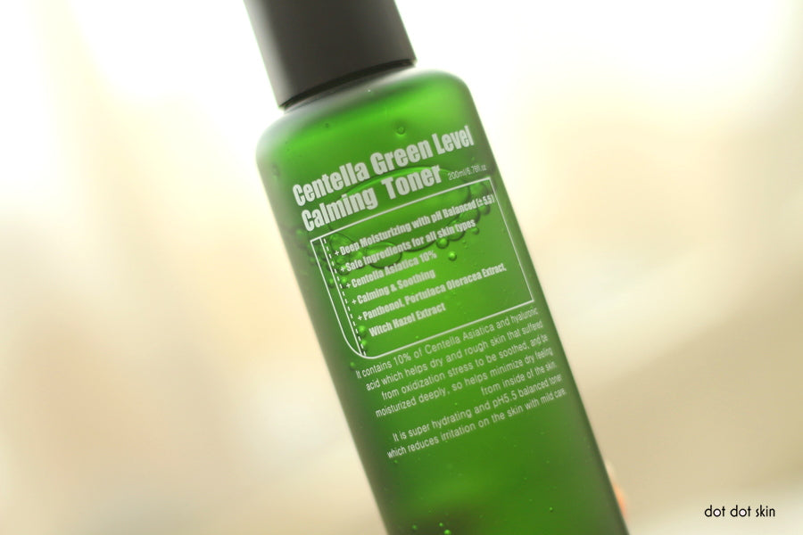 review purito green level centella toner