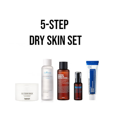 korean skincare dry skin set