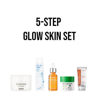 korean beauty glow skincare set