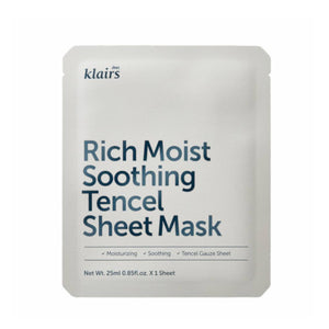 KLAIRS - RICH MOIST SOOTHING TENCEL SHEET MASK