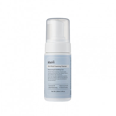 Klairs Rich Moist Foaming Cleanser, second cleanser, keeps skin hydrated while cleansing.