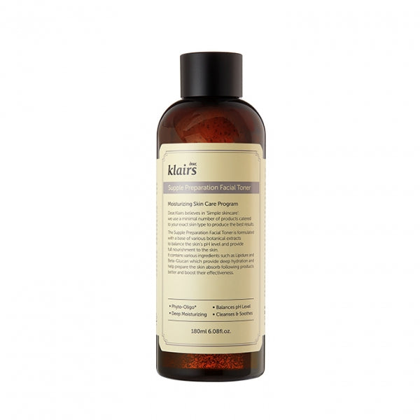 Klairs Supple Preparation Facial Toner, sensitive skin. ph level 6.0 toner.