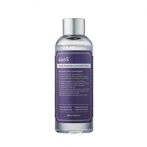 Klairs Supple Preparation Unscented Toner moisturizes, pH level of 6. It is for sensitive and acne prone skin.