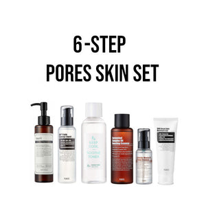 6 step pores korean skincare set