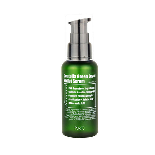 Purito Green Level Buffet Serum with centella. Serum for acne prone sensitive skin.