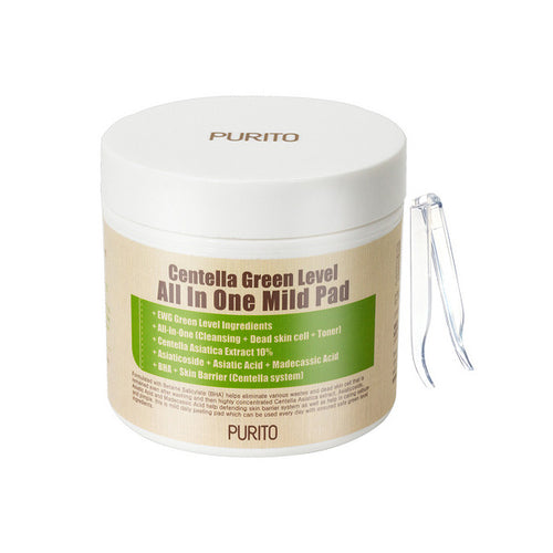 Purito Centella All in one mild exfoliating pads.