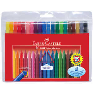 Faber-Castell - 20 GRIP Color Markers
