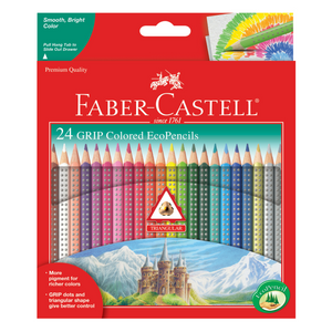 Faber-Castell - 24 GRIP Colored EcoPencils