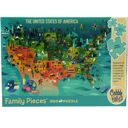 Family Pieces: 350-Piece Jigsaw Puzzle by Cobble Hill