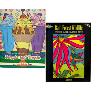 Large-Print Coloring Book Set
