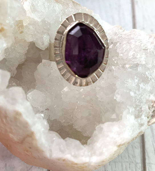 Amethyst Lizard Ring