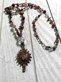 Vintage sacred heart necklace