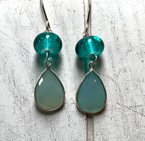 Minty fresh earrings