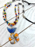 Rainbow Bird Necklace