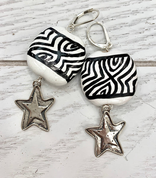 Kenyan star earrings