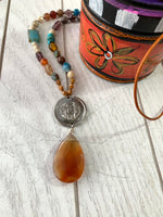 Coins and Carnelian Necklace