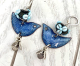 Blue Bell Bird Earrings