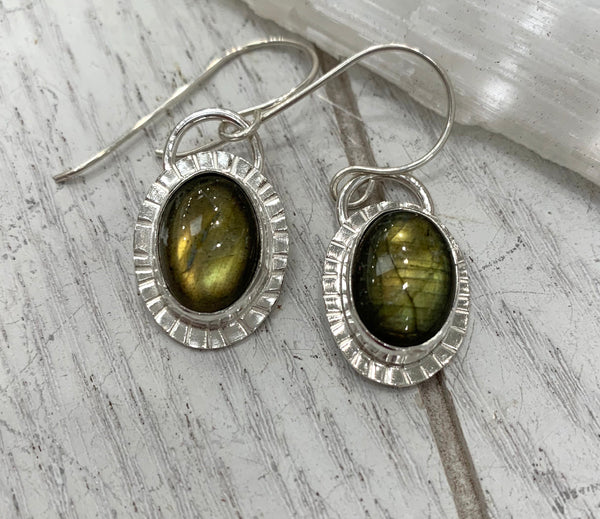 Labradorite spark earrings