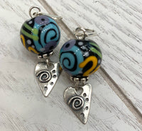 Silly swirl earrings